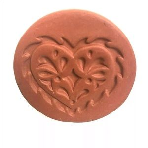 Vintage Butter Mold Heart Clay Farmhouse Kitchen